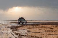 off-road expedition car in danakil depression Ethiopia