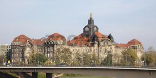 Saechsische Staatskanzlei und Landtag, Dresden, Sachsen, Deutschland, Europa