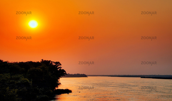 Sunset at the Nile at Murchison Falls National Park Uganda
