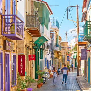 Street in Aegina town