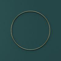 Mock up podium for product presentation golden circle 3D