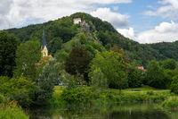 Lake in the village Riedenburg