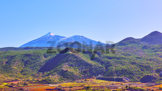 Panoramic view with The Teide volcano