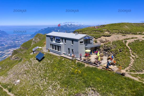 Mountain hut Cabane de la Tourche, Morcles, Vaud Chablais, Vaud, Switzerland