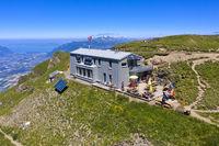 Mountain refuge Cabane de la Tourche, Chablais vaudois, Morcles, Vaud, Switzerland