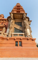 Tower of historic Baron Empain Palace, architecture inspired by Cambodian Hindu temple of Angkor Wat