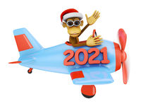 monkey in airplane 2021