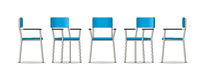 Illustration of an chair in different perspectives