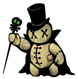 Voodoo Doll Conjurer Cartoon