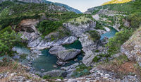 Summer mountain Moraca River Canyon,  Montenegro.
