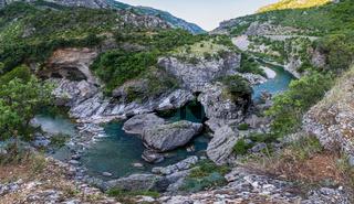 Summer mountain Moraca River Canyon,  Montenegro.