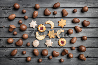 Delicious festive Christmas chocolate and sweets for the holiday period