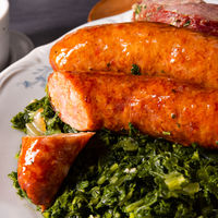 oldenburg kale with pinkel sausage and kassler
