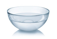 Glass bowl of clear water