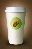 Paper cup for coffee with logo