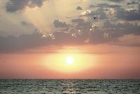 Sunrise at Cabo Cervera in Torrevieja, Alicante province in Spain.
