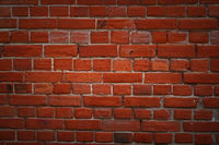 vintage red Brick wall texture for using as background