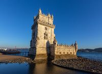 Belem Tower and Tagus River in Lisbon