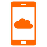 Wolke und Smartphone - Cloud and smartphone