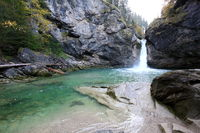 The Buchenegger waterfalls in Bavaria in the Allgäu