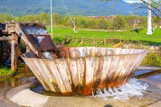 Bulgarian valevica. Old style washing machine