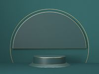 Mock up podium for product presentation circle and cylinders stage 3D