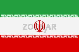 Iran flag background illustration red white green emblem Allah takbir