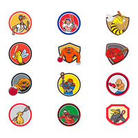 Cartoon Animals Sports Activity Mascot Set Collection