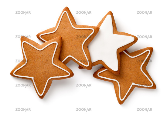 Gingerbread Stars Isolated On White Background