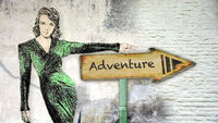 Street Sign to Adventure