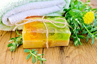 Soap homemade with Rhodiola rosea on board