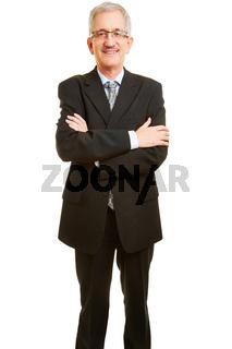Alter Senior Manager frontal von vorne