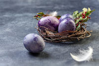 Traditional colorful Easter eggs.