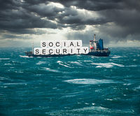 Concept of Social Security trust fund being in danger of exhaustion