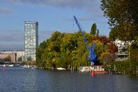 Panorama at the River Spree, Peninsula Stralau, Lichtenberg, Berlin