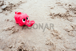 Plastic toy for play with sand at the beach