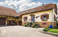 A beautifully decorated house in a small town Waldighoffen in the Alsace region in Eastern France