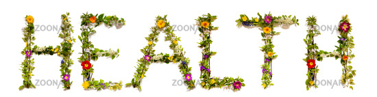 Flower And Blossom Letter Building Word Health