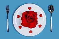 Romantic dinner concept