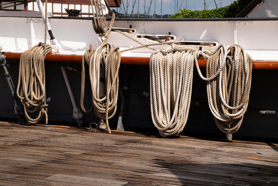 The deck of the Gorch Fock one