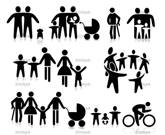Family with children, parents and grandparents