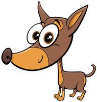 ratter or rattler purebred dog cartoon animal character