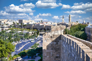 Jerusalem Israel. The ramparts of the old city