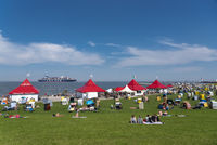 Grassy beach in Cuxhaven