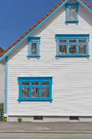 Traditional wooden houses in Gamle, which is a historic area of the city of Stavanger in Norway