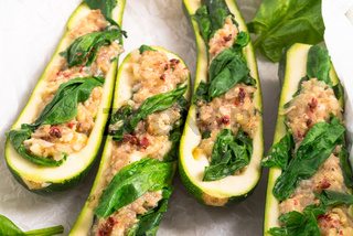 spinach fullly courgette vegetarian