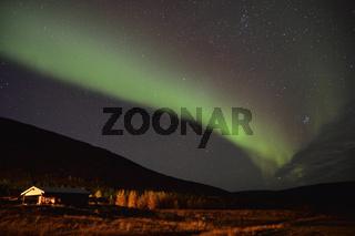Nordlicht, Heydalur, Westfjorde, Island