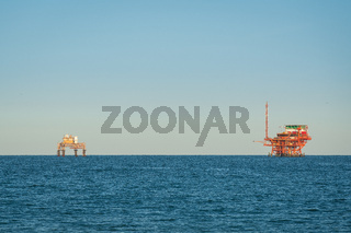 Adriatic sea extraction and transformation of natural gas