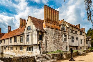 Shipbourne, Kent, UK. April 21 2012. Large Tudor Building