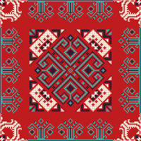 Romanian traditional pattern 185